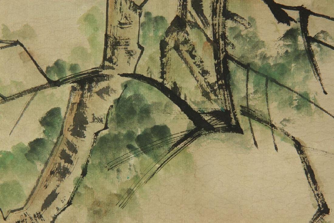 Two Chinese Watercolor Paintings on Paper - 5