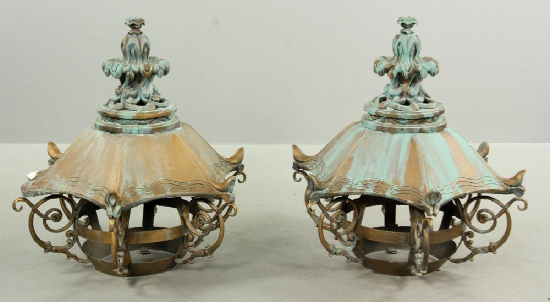 2 Pagoda Form Lanterns