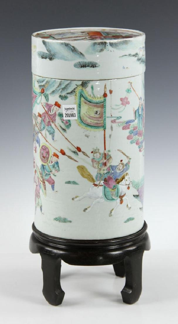 19th C. Chinese Porcelain Covered Jar - 3