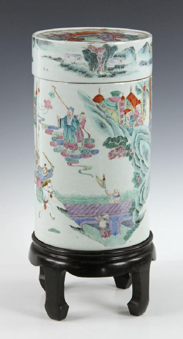 19th C. Chinese Porcelain Covered Jar - 4