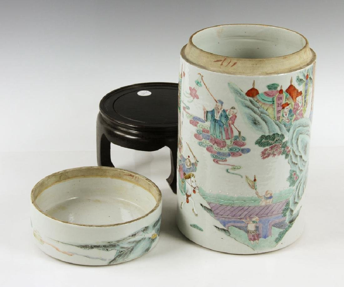 19th C. Chinese Porcelain Covered Jar - 5