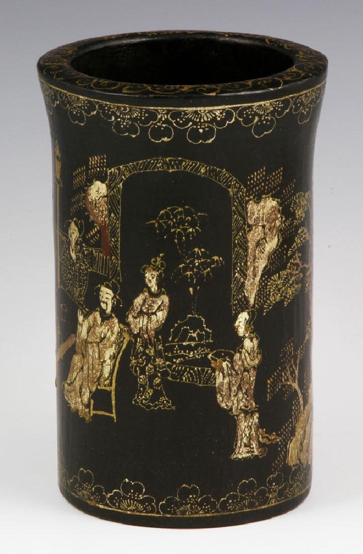 Chinese Lacquer Brush Pot