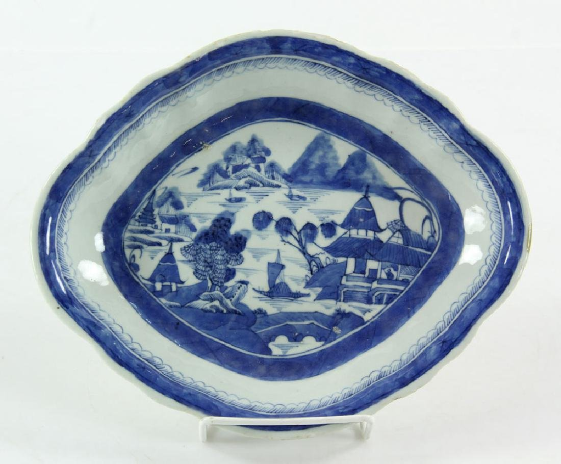 Three 19th C. Chinese Canton Porcelain Items - 4