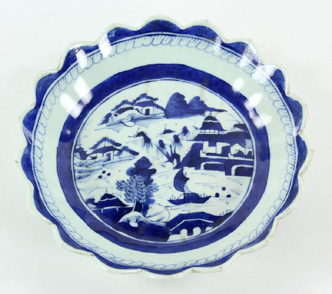 Three 19th C. Chinese Canton Porcelain Items - 7