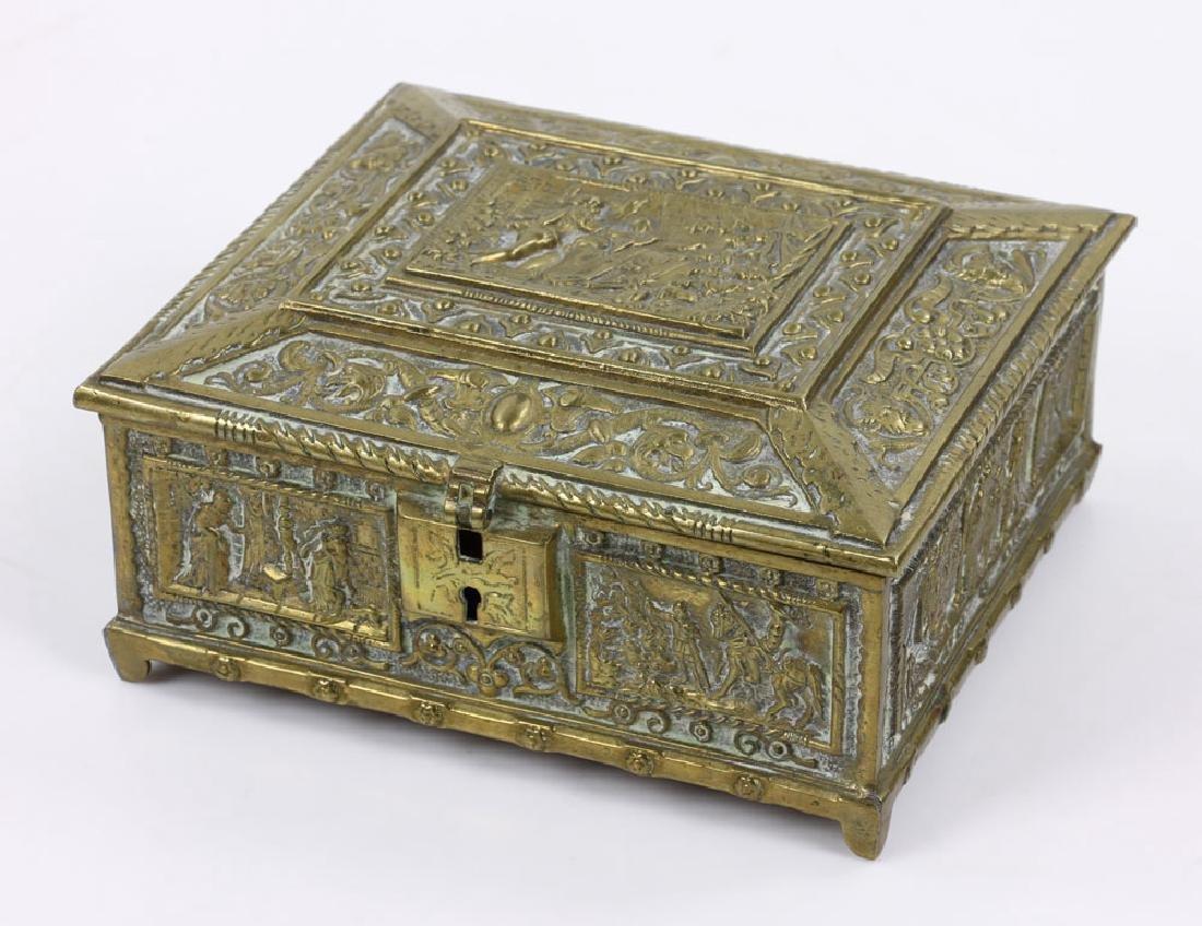 Late 19th C. English Bronze Document Box