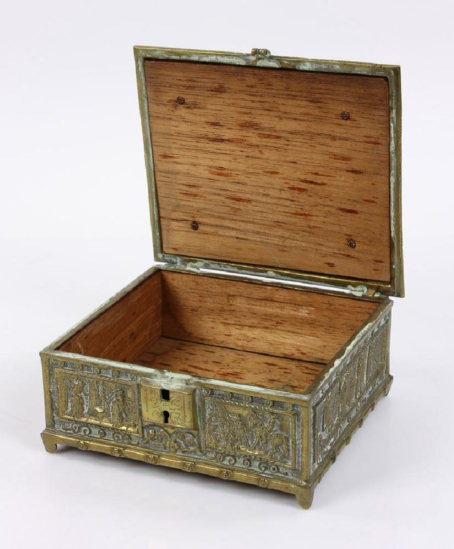 Late 19th C. English Bronze Document Box - 2