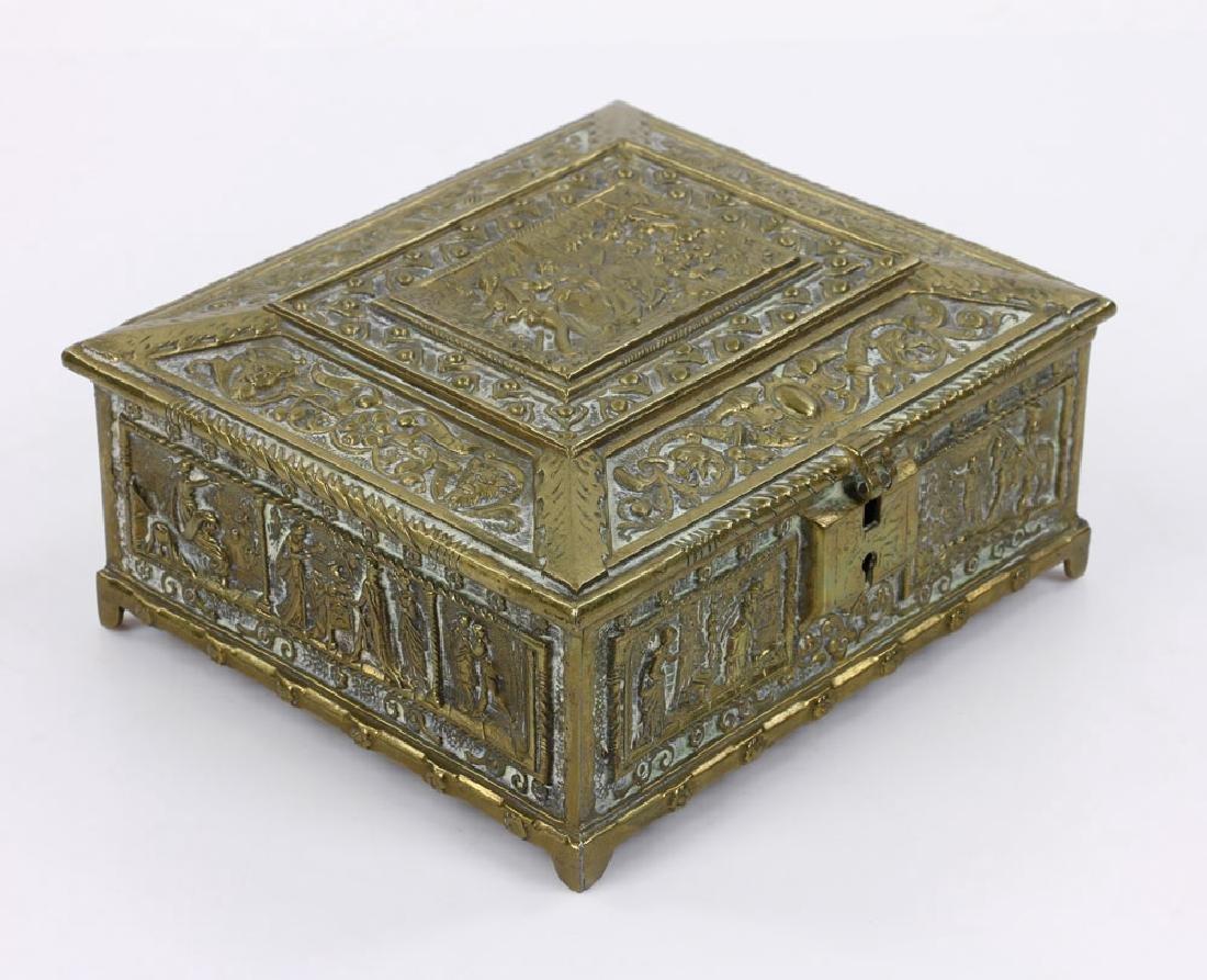 Late 19th C. English Bronze Document Box - 3