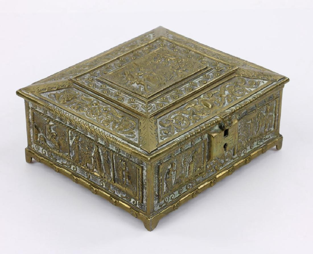Late 19th C. English Bronze Document Box - 3