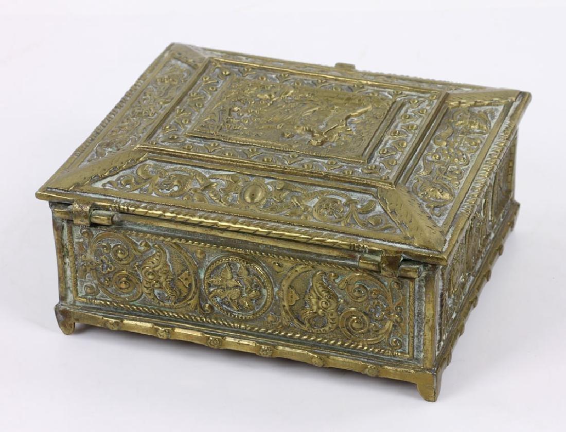 Late 19th C. English Bronze Document Box - 4