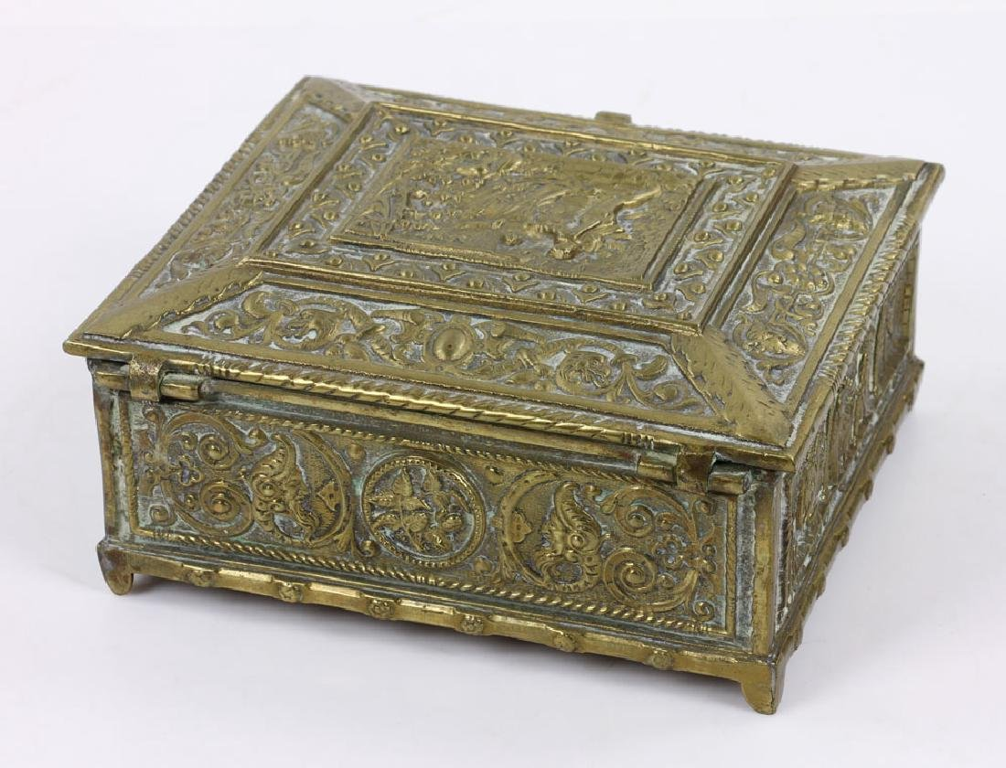 Late 19th C. English Bronze Document Box - 4