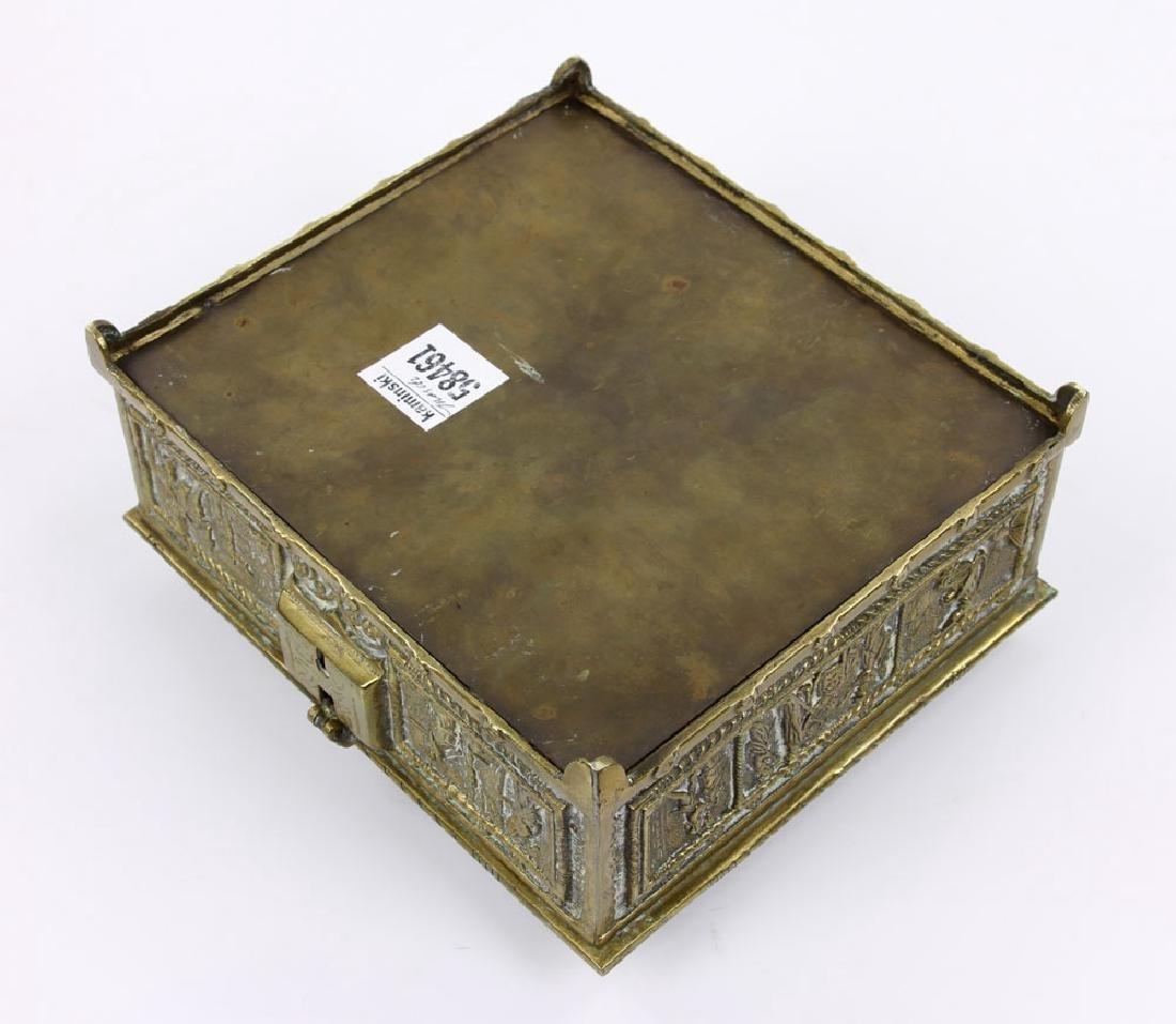 Late 19th C. English Bronze Document Box - 5
