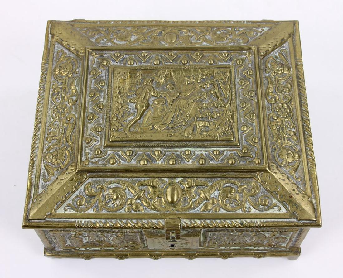 Late 19th C. English Bronze Document Box - 6