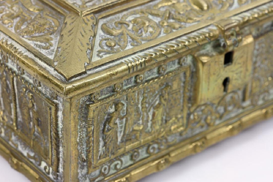 Late 19th C. English Bronze Document Box - 7