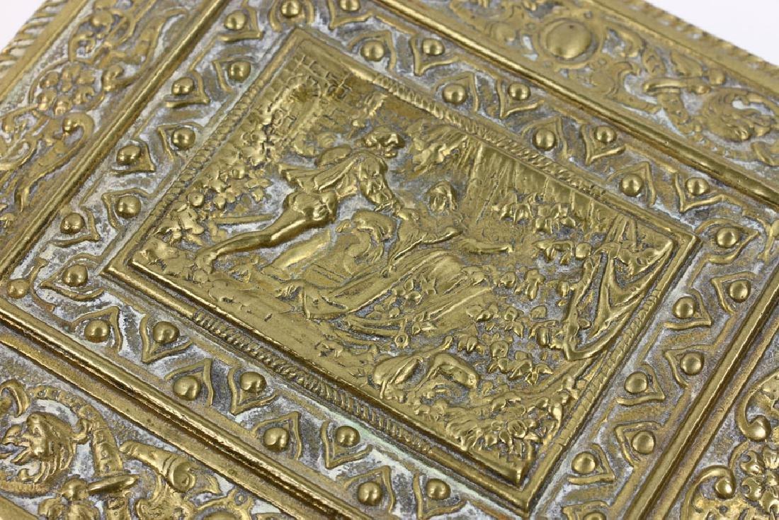 Late 19th C. English Bronze Document Box - 8