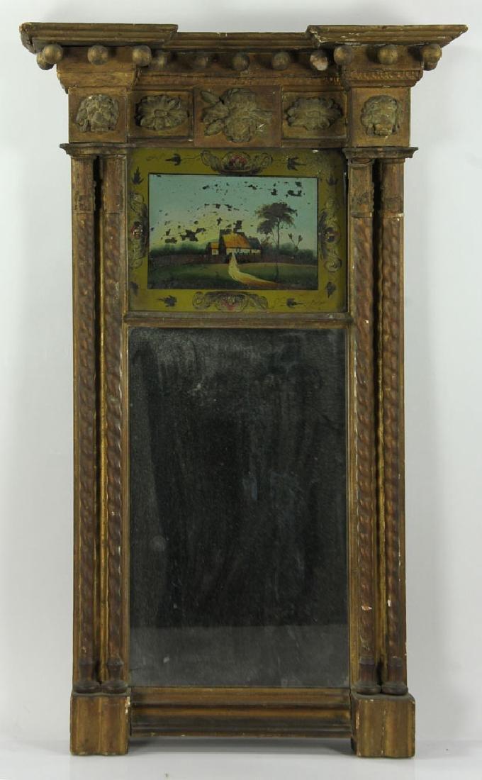 Late 18th/19th C. American Gilt Mirror
