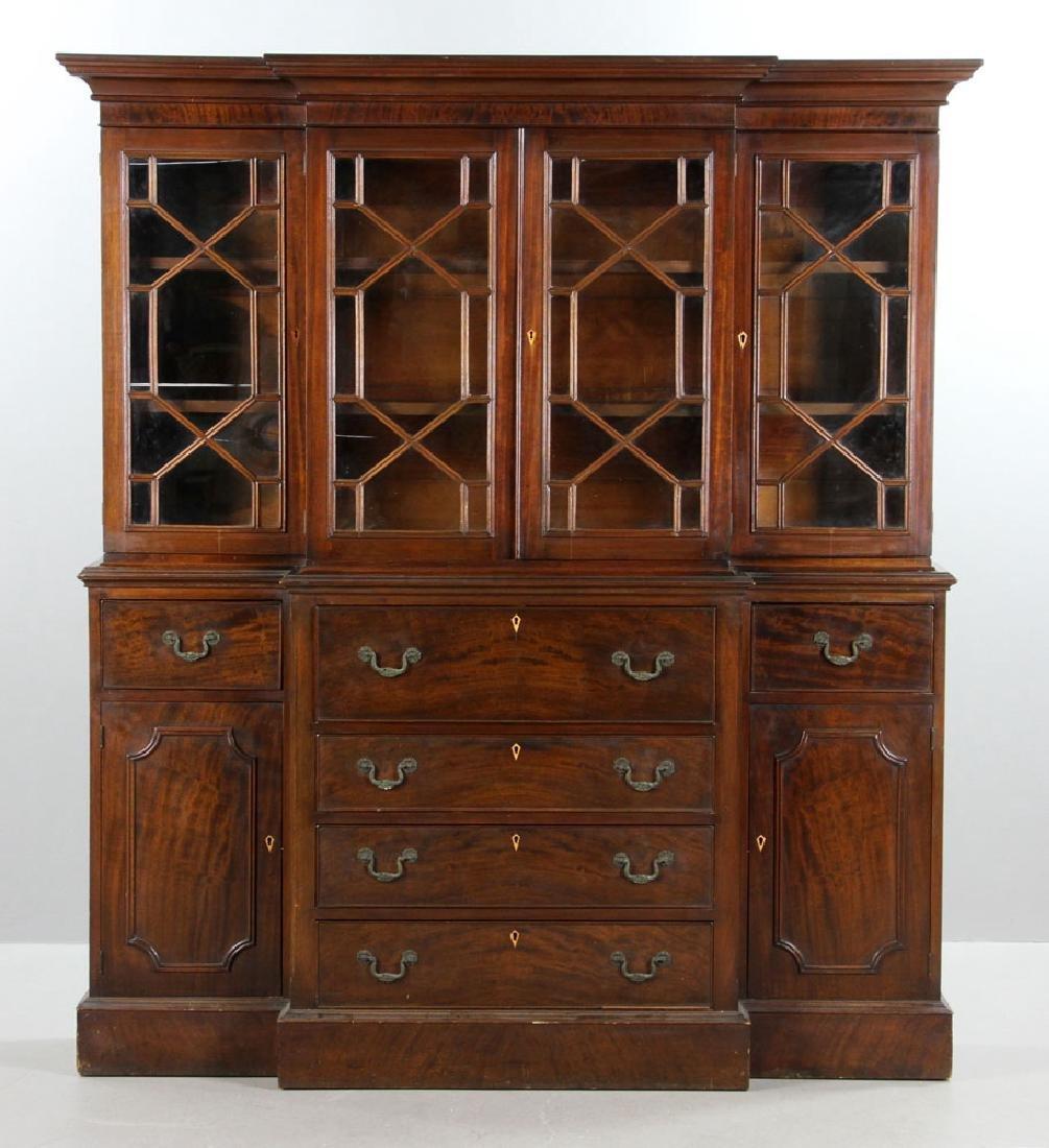 19th C. Mahogany Breakfront Secretary Desk