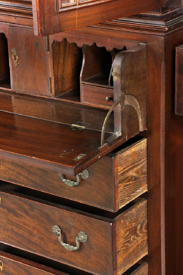 19th C. Mahogany Breakfront Secretary Desk - 3