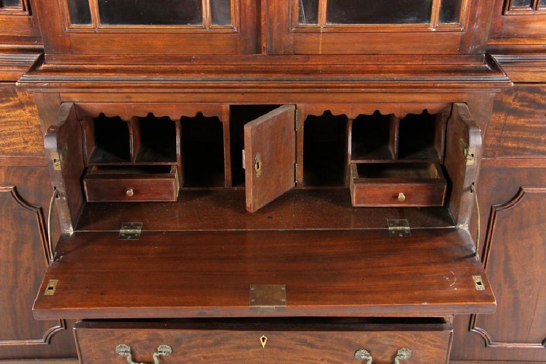 19th C. Mahogany Breakfront Secretary Desk - 4