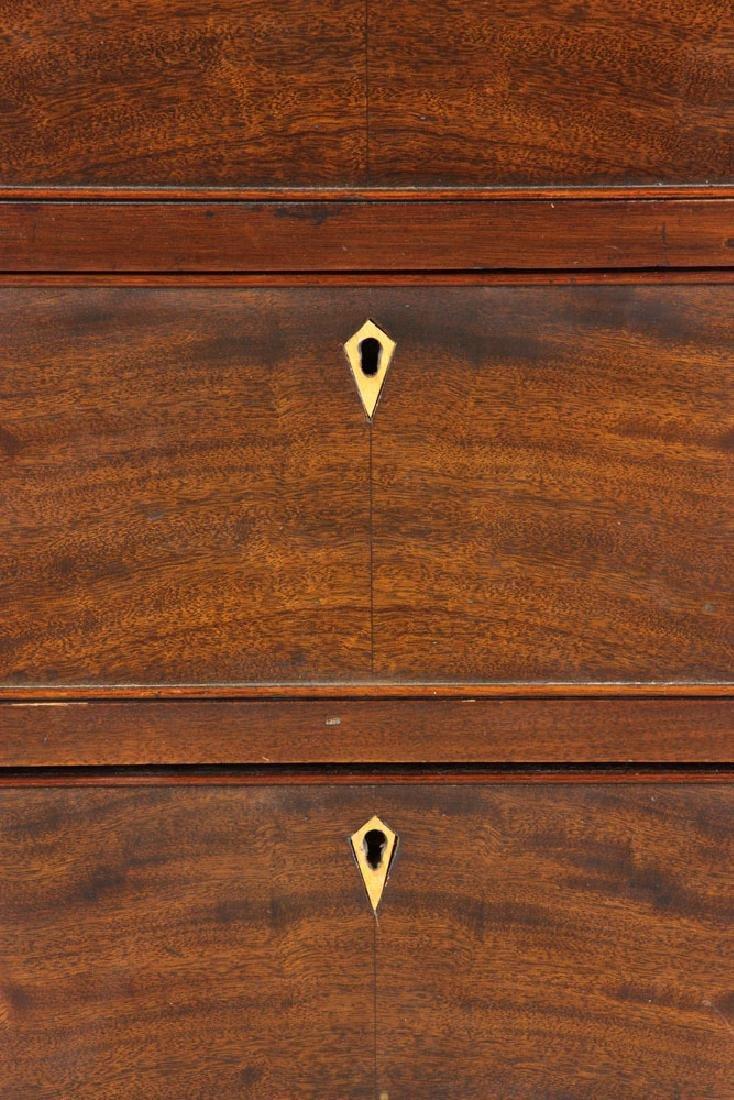 19th C. Mahogany Breakfront Secretary Desk - 5