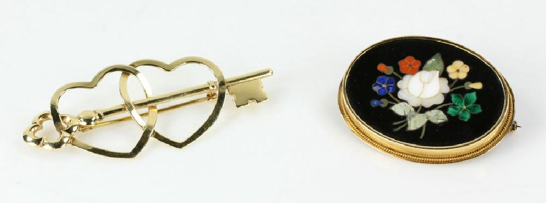 Two Gold Jewelry Pins