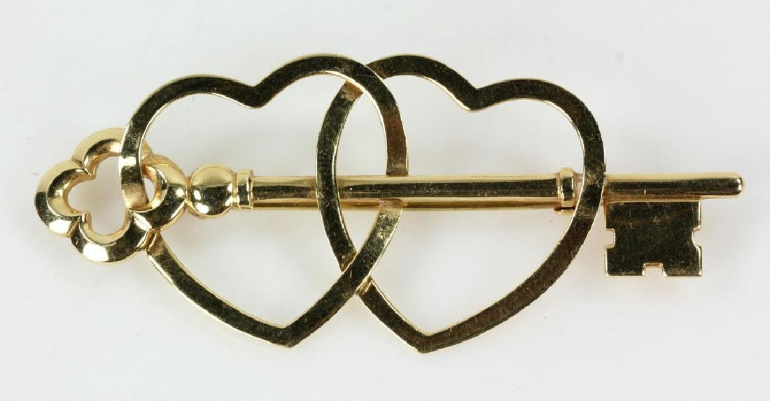 Two Gold Jewelry Pins - 2