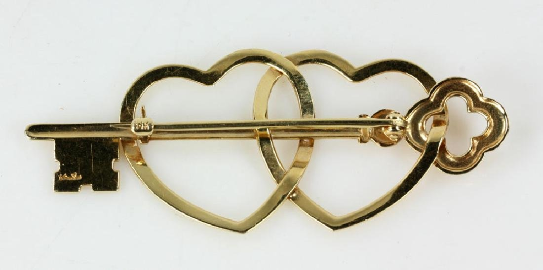 Two Gold Jewelry Pins - 3