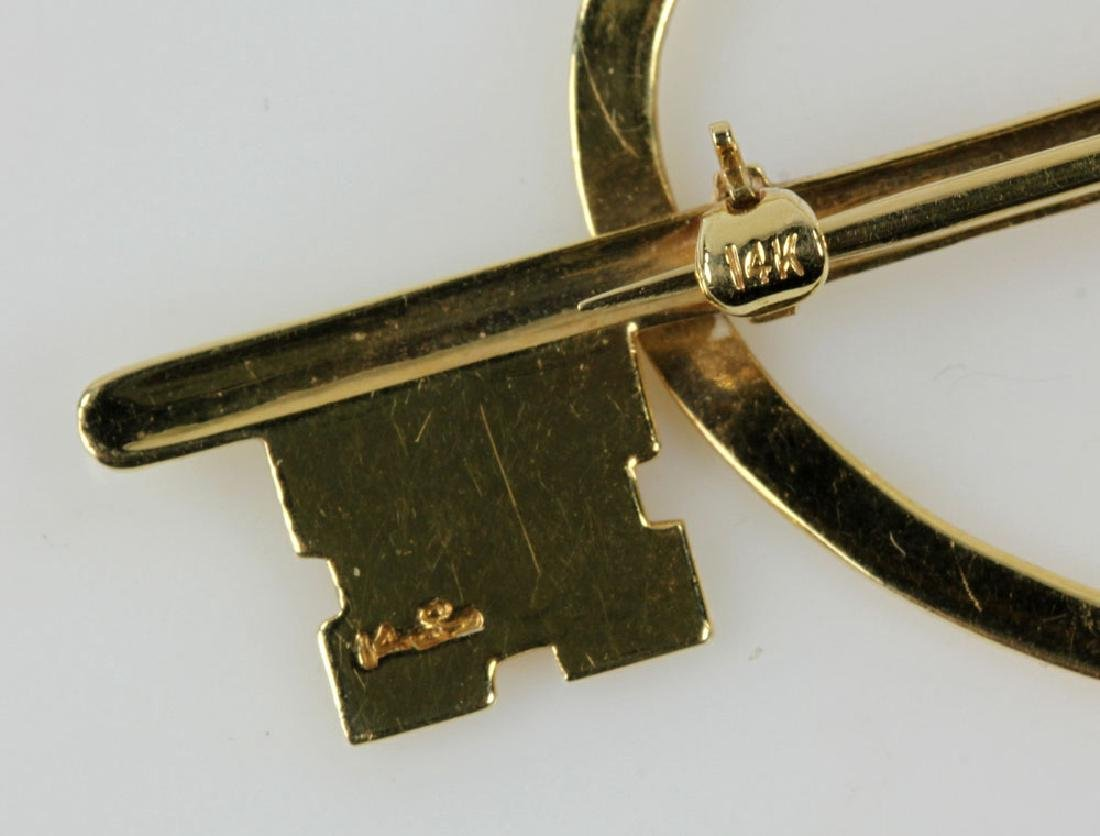 Two Gold Jewelry Pins - 4