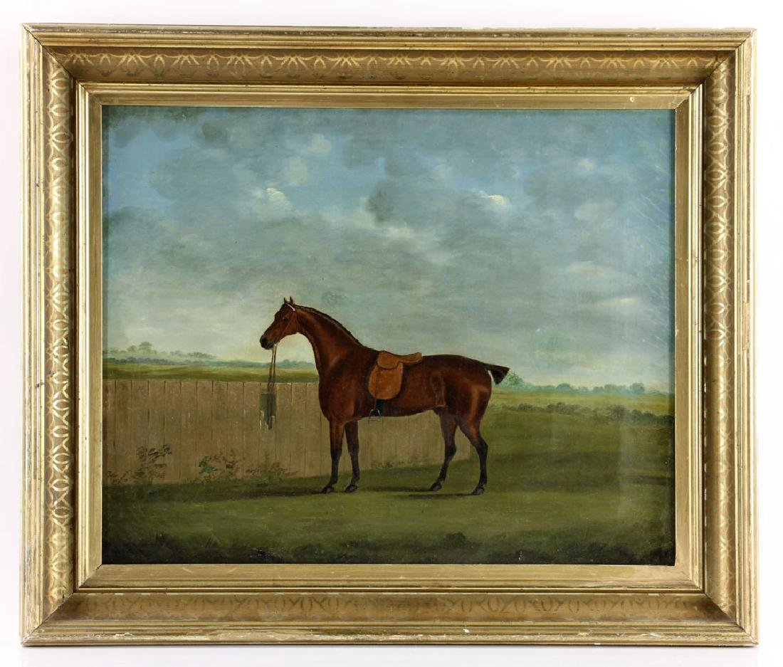 19th C. English Portrait of A Horse, Oil