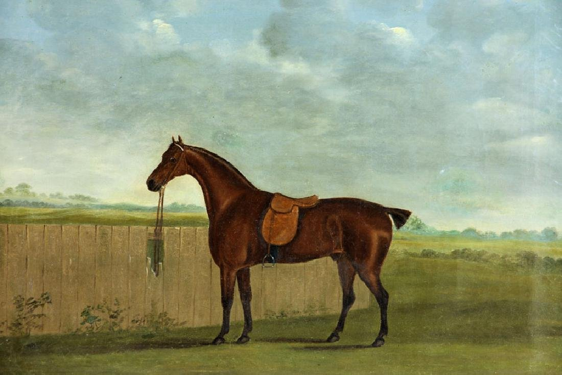 19th C. English Portrait of A Horse, Oil - 3