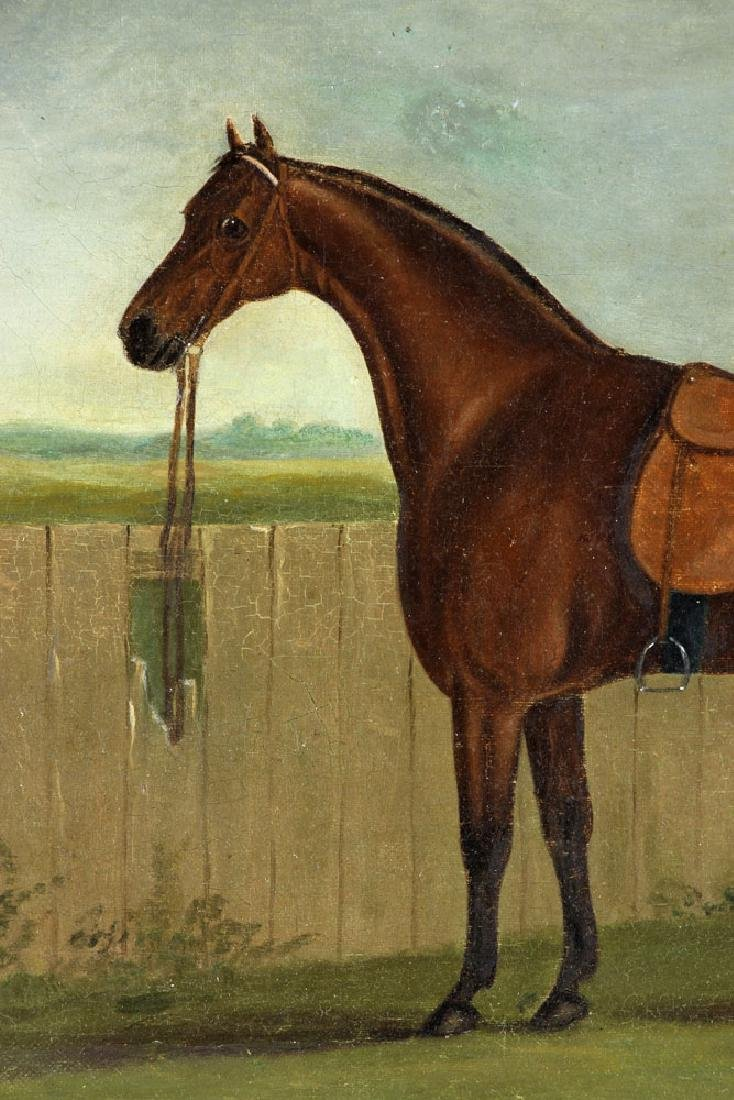 19th C. English Portrait of A Horse, Oil - 4