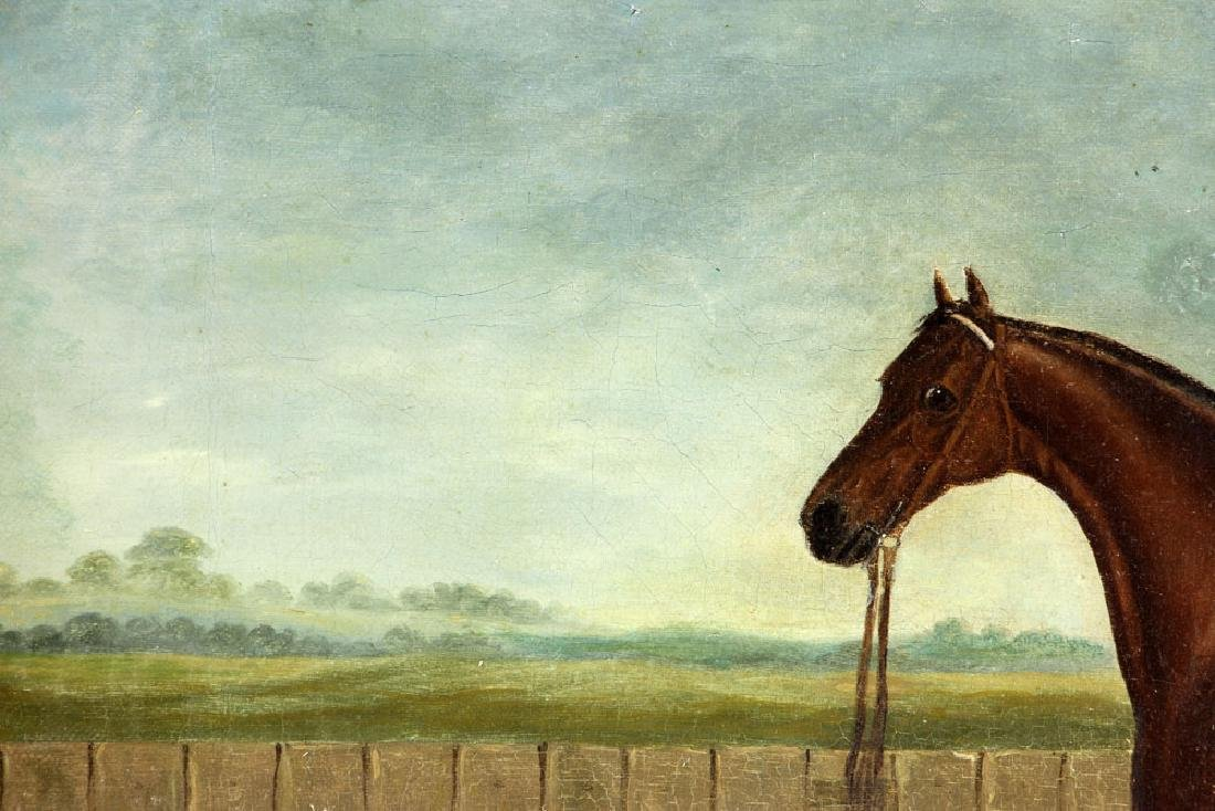 19th C. English Portrait of A Horse, Oil - 5