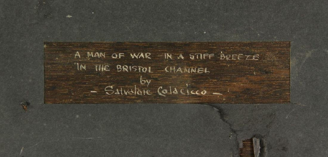 Colacicco, A Man of War in A Stiff Breeze, Oil - 3