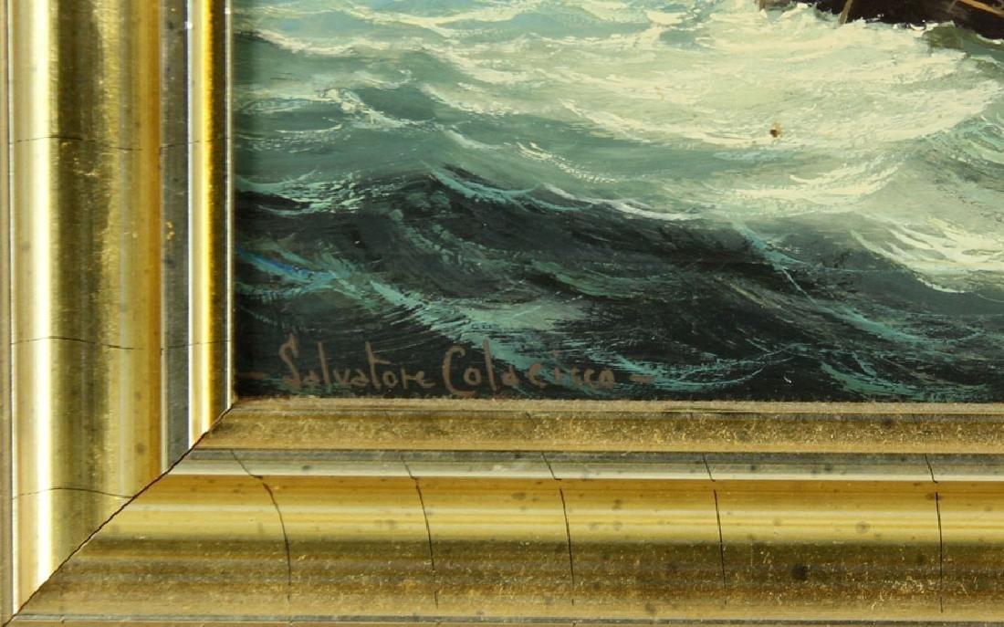 Colacicco, A Man of War in A Stiff Breeze, Oil - 5