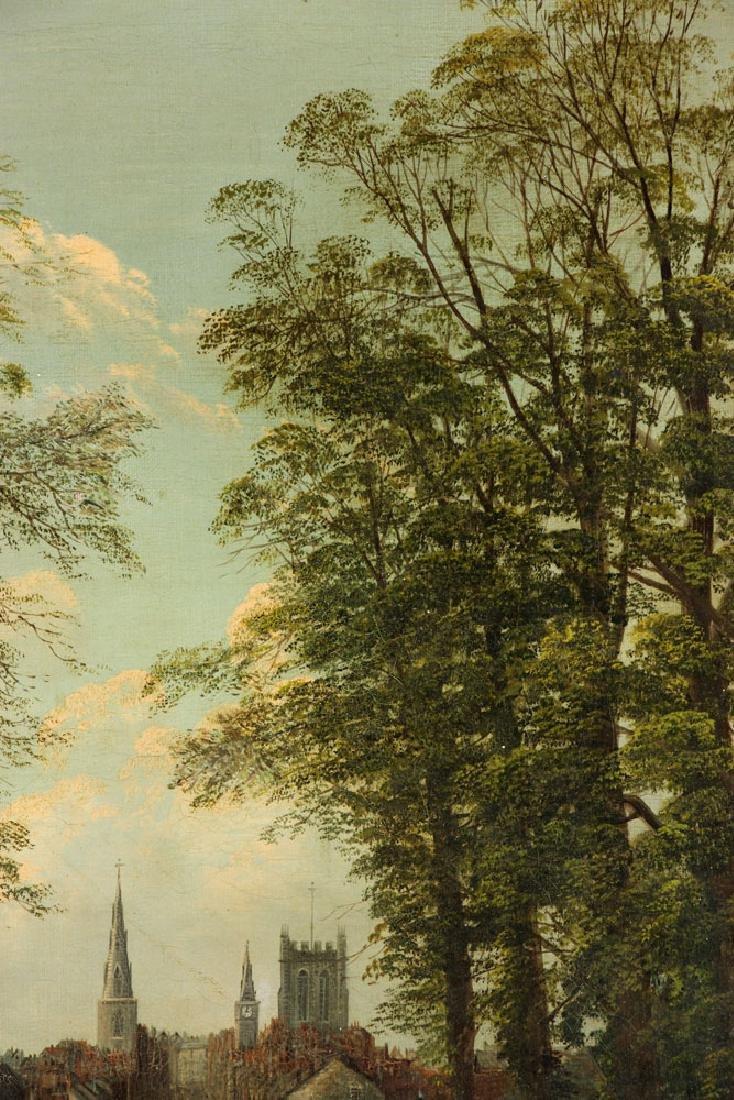19th C. English School, Village Scene, Oil on Canvas - 6
