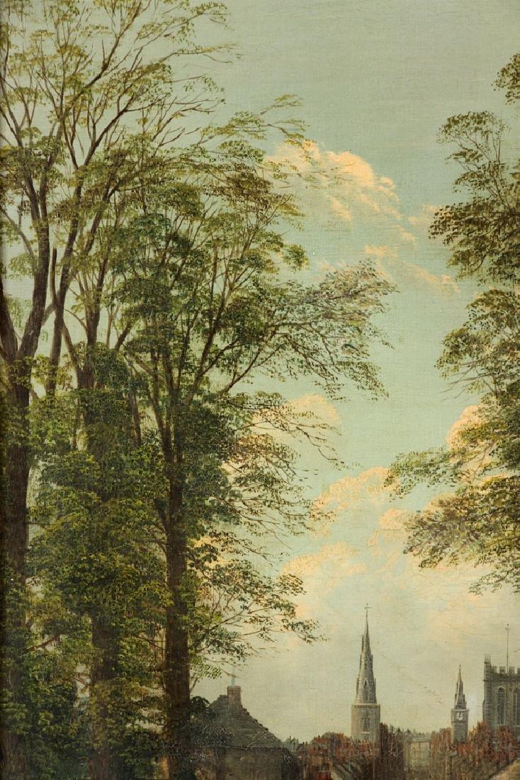 19th C. English School, Village Scene, Oil on Canvas - 7