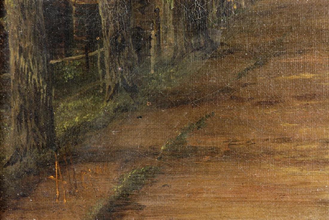 19th C. English School, Village Scene, Oil on Canvas - 8