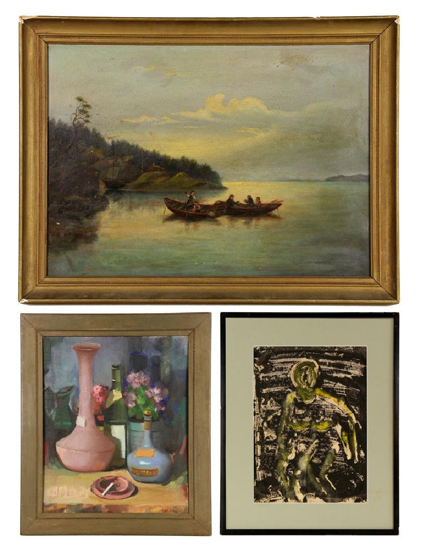 Lot of 3 Paintings