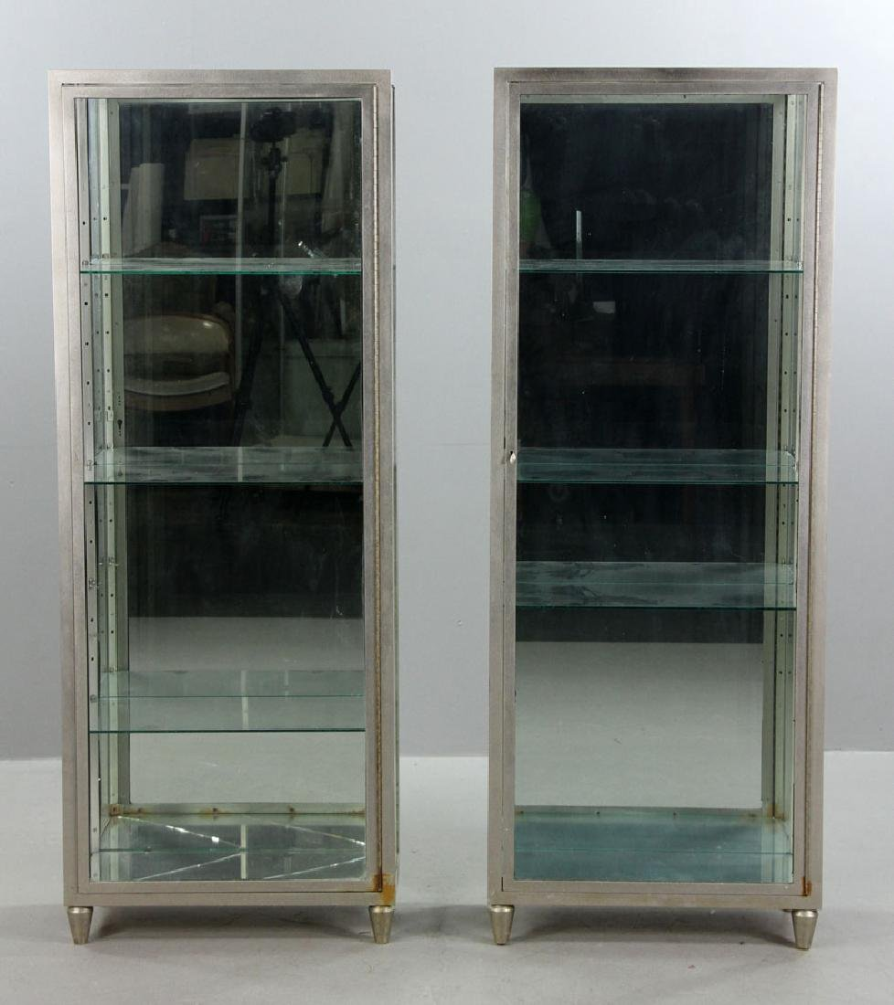 Pr. Metal and Glass Display Cases