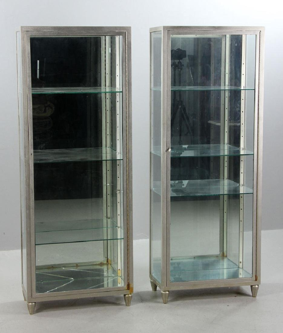 Pr. Metal and Glass Display Cases - 2