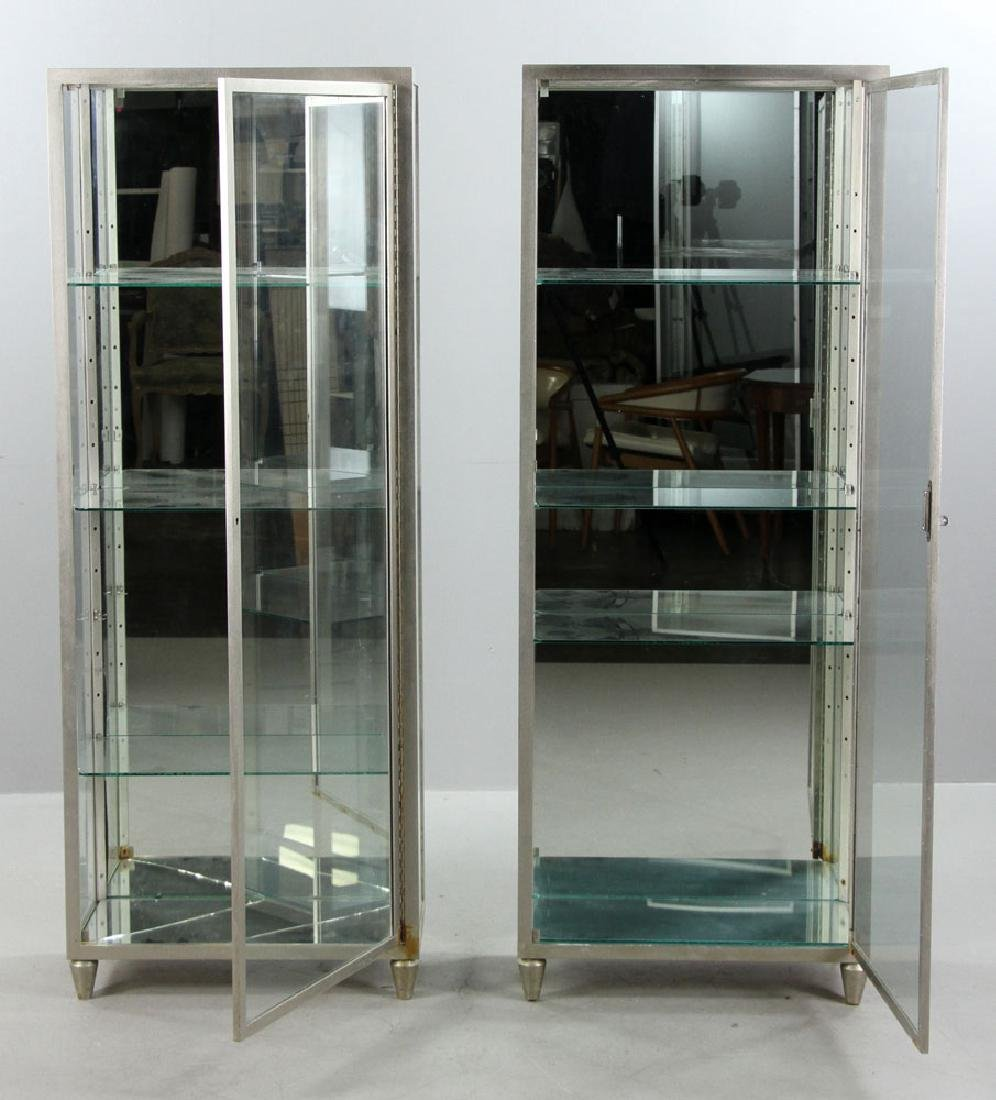 Pr. Metal and Glass Display Cases - 3