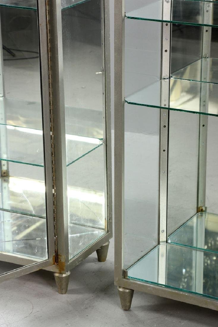 Pr. Metal and Glass Display Cases - 4