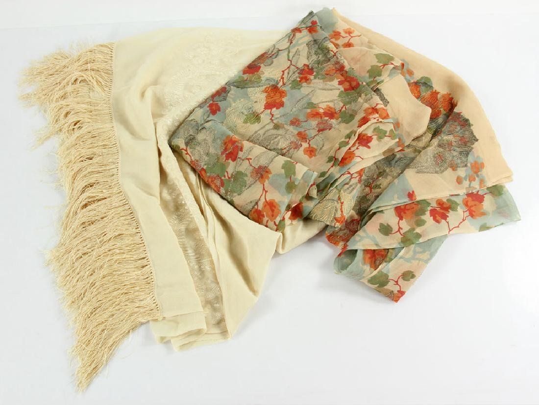 Two French Silk Scarves
