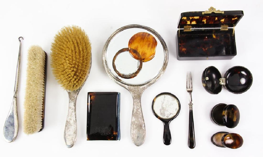 Miscellaneous Collection of Antique Tortoise Shell - 2
