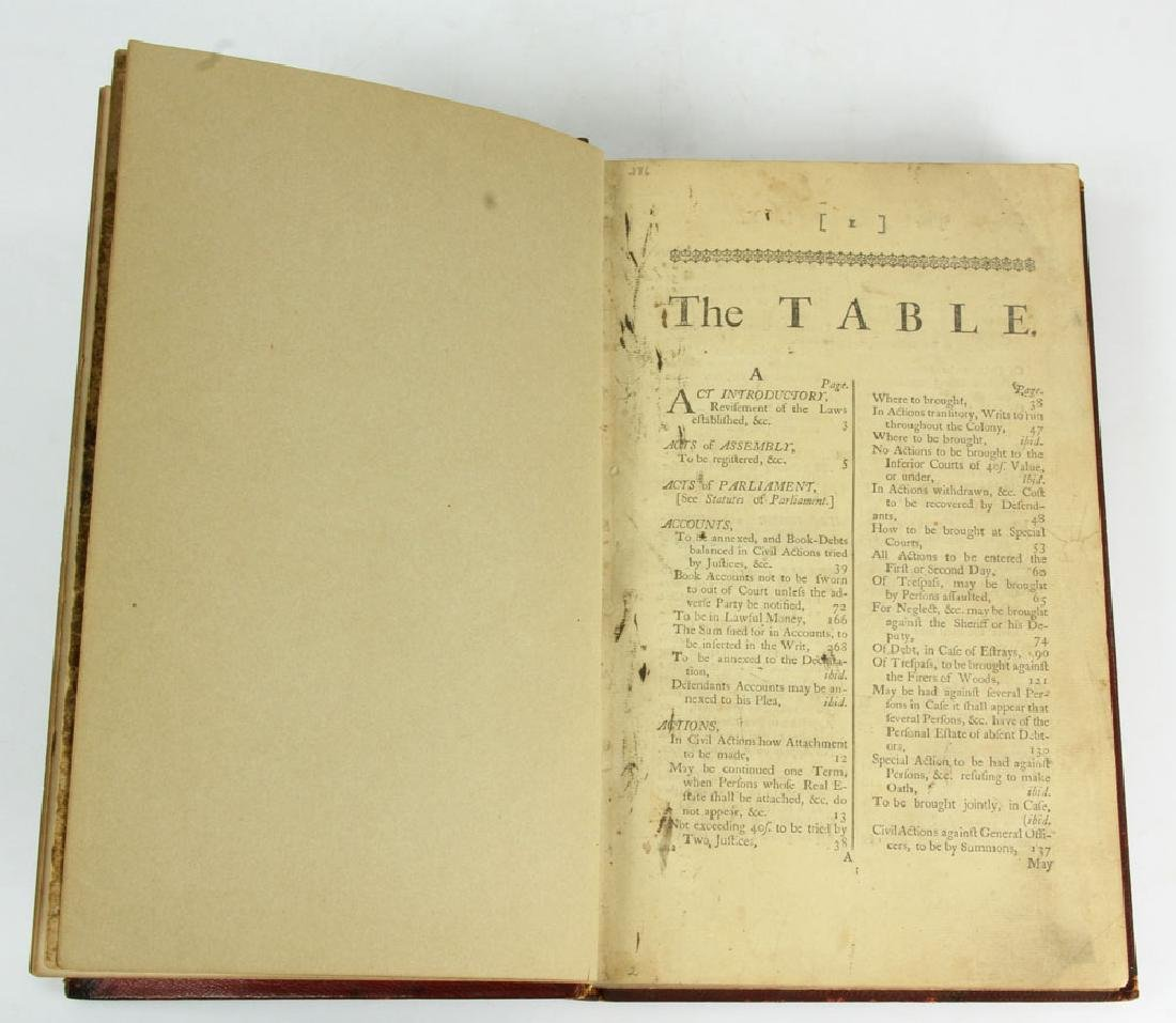 "Rare Rhode Island's Colonial 1767 ""Acts and Laws"" - 8"