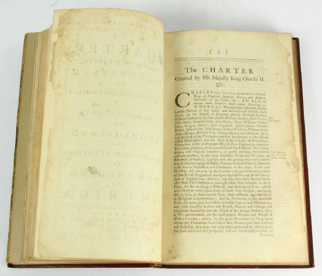 "Rare Rhode Island's Colonial 1767 ""Acts and Laws"" - 9"