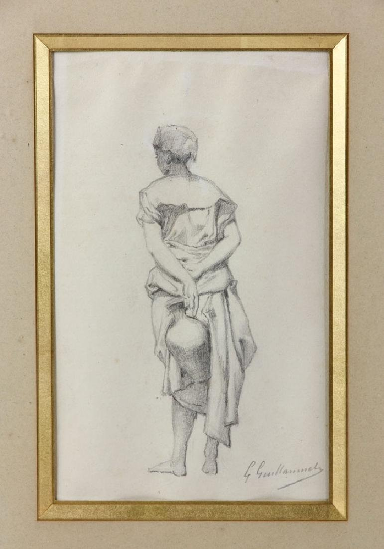 """Guillaumet, """"Standing Girl Holding Water Pitcher"""", - 2"""
