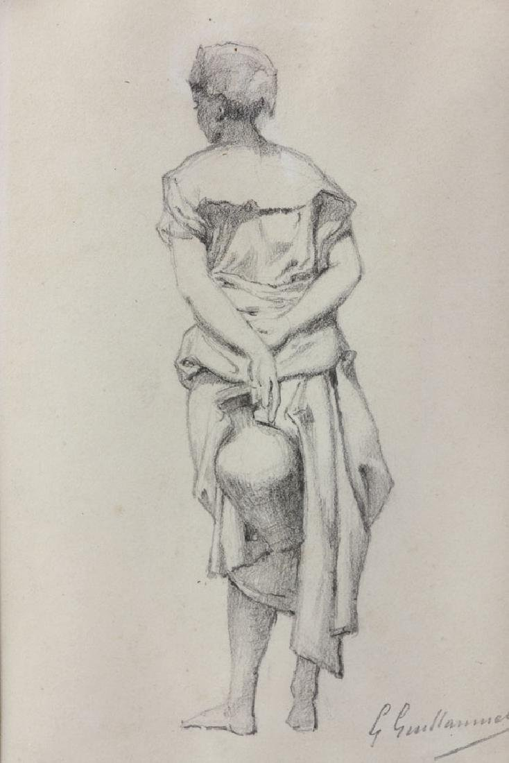 """Guillaumet, """"Standing Girl Holding Water Pitcher"""", - 3"""