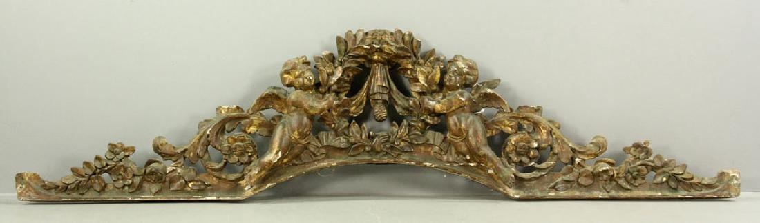 Carved and Gilded Arch with Cherubs
