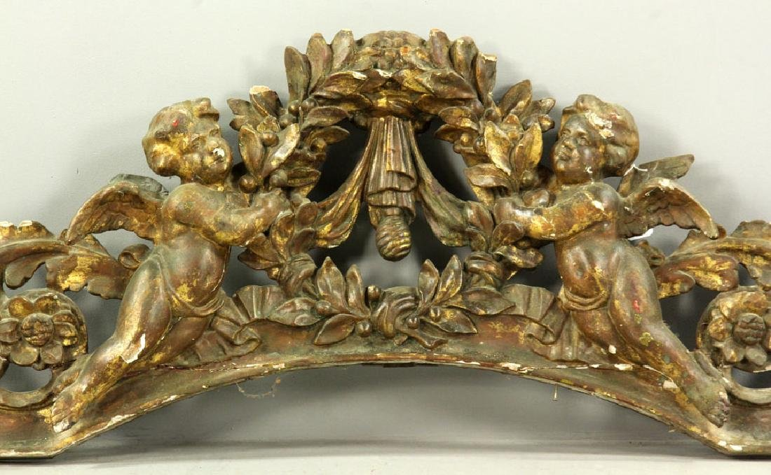 Carved and Gilded Arch with Cherubs - 2