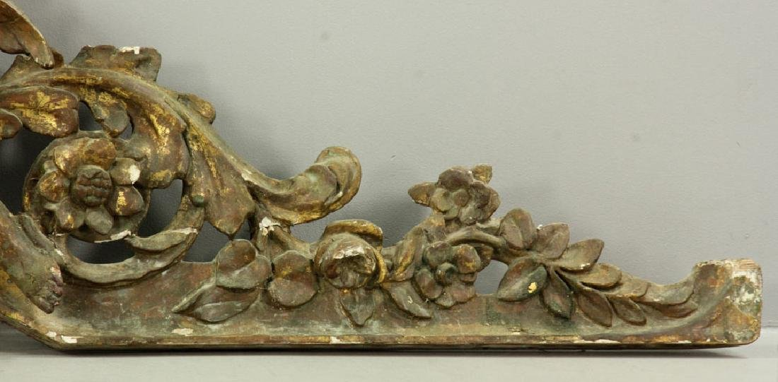 Carved and Gilded Arch with Cherubs - 3